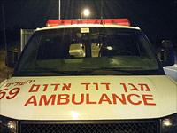 "Автомобиль ""Маген Давид Адом"", который был обстрелян около Бейт-Эля"