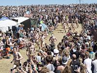 Голый забег на фестивале в Роскилле. 2 июля 2015 года