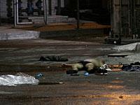 Тело террориста на месте теракта в Беэр-Шеве. 18 октября 2015 года