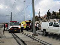 На месте теракта в трамвае. Иерусалим, 10 ноября 2015 года