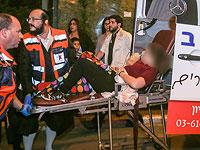 """Раненых в результате теракта в Кирьят-Гате доставили в больницу """"Барзилай"""". 21 ноября 2015 года"""