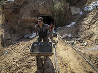 Строительство туннеля на границе Газы