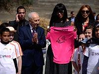 Наоми Кэмпбелл и Шимон Перес. 8 марта 2016 года