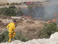 Возгорание кустарника произошло на северо-востоке Иерусалима и возле Кирьят-Гата