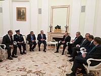 Во время переговоров Нетаниягу и Путина. Москва, апрель 2016 года