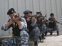 Сотрудники палестинской полиции в Шхеме