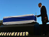 Барак Обама у гроба Шимона Переса. Иерусалим, 30.09.2016