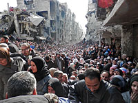 Лагерь палестинских беженцев Ярмук (Сирия). 31 января 2015 года