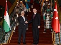 Махмуд Аббас и Реджеп Тайип Эрдоган в Анкаре в январе 2015 года
