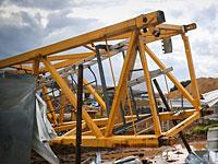 На строительной площадке в Кирьят-Бялике обрушился подъемный кран