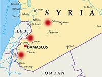На карте Сирии отмечены места нанесения воздушных ударов 17 и 19 марта 2017 года