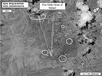 Авиабаза Шайрат после ракетного удара. 7 апреля 2017 года