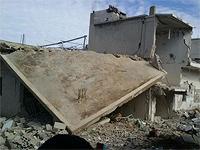 Один из сирийских городов после бомбардировки