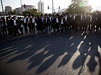 Ультраортодоксы блокировали движение на перекрестке Шилат
