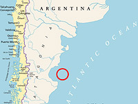 Аномалия была отмечена в 430 км от побережья в заливе Сан-Хорхе. Речь идет о зоне радиусом 125 км