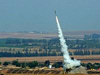 """Израиль подвергся ракетному обстрелу. Две ракеты сбиты """"Железным куполом"""""""