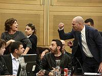 Тамар Зандберг и Амир Охана на заседании комиссии Кнессета по внутренним делам. 29 января 2018 года